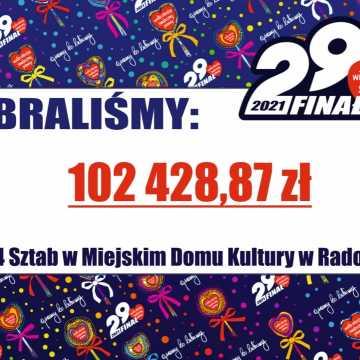 Zbiórka z puszek podliczona. W Radomsku na rzecz WOŚP zebrano 102 428,87 zł