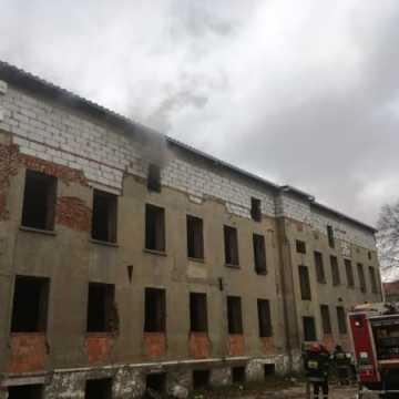 Pożar w pustostanie przy ul. Kościuszki