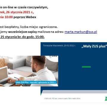 Szkolenie on-line: Mały ZUS plus-nowe zasady ustalania podstawy wymiaru składek