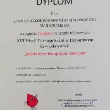 """""""Mechanik"""" najlepszy na turnieju """"Młoda Krew Ratuje Życie"""""""