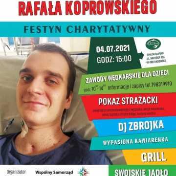 Festyn charytatywny w Radomsku: Wspólnie po zdrowie dla Rafała Koprowskiego