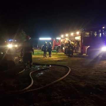 Pożar samochodu w gminie Przedbórz