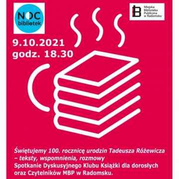MBP w Radomsku zaprasza na Noc Bibliotek