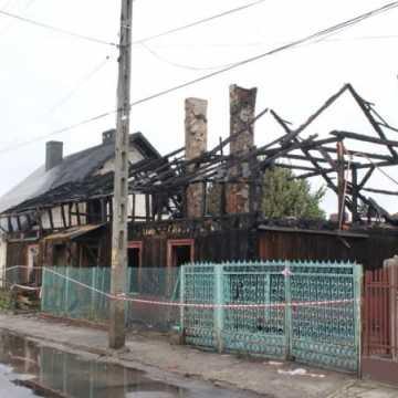 Pożar domu przy ul. Chopina w Radomsku