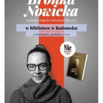 Bronka Nowicka, laureatka literackiego NIKE w Radomsku