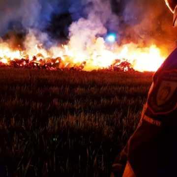 Kolejny pożar balotów słomy w Pratkowicach