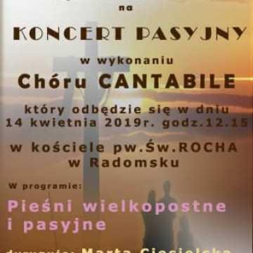 Cantabile zaprasza na Koncert Pieśni Pasyjnych