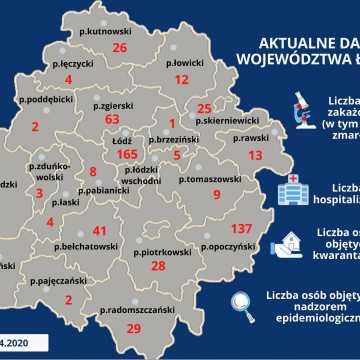 17 kolejnych przypadków koronawirusa w województwie łódzkim. Wśród zakażonych dwoje dzieci