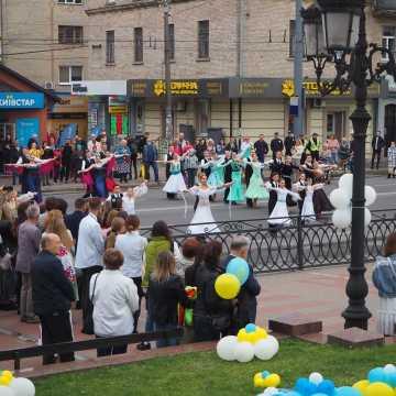 Władze powiatu radomszczańskiego na urodzinach miasta Równe