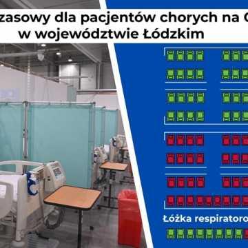Szpital tymczasowy w Łodzi przyjmuje kolejnych pacjentów