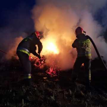Pożar słomy w Pytowicach