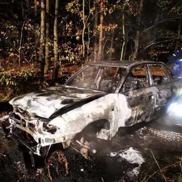 Samochód doszczętnie spłonął. Doszło do podpalenia?