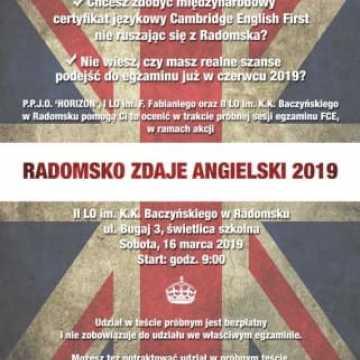 Radomsko Zdaje Angielski po raz szósty