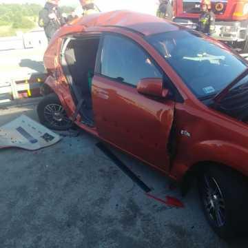 [AKTUALIZACJA] Gm. Gomunice: wypadek z udziałem 4 pojazdów. Są ranni