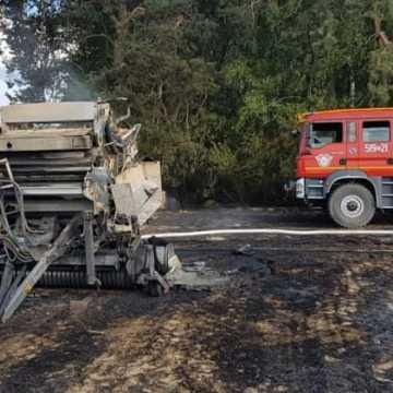 Pożary pól, lasu i maszyny rolniczej