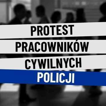 Pracownicy cywilni Policji protestują. Również w Radomsku