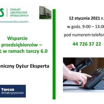 Telefoniczny dyżur ZUS eksperta o tarczy 6.0