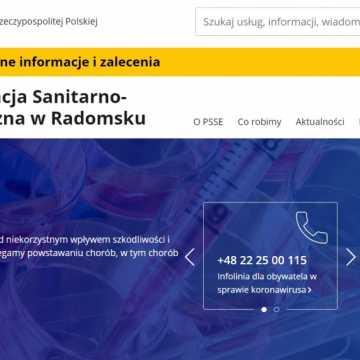 Sanepid w Radomsku z nowym - rządowym adresem www