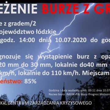 Alert RCB: Uwaga na burze z gradem i porywisty wiatr