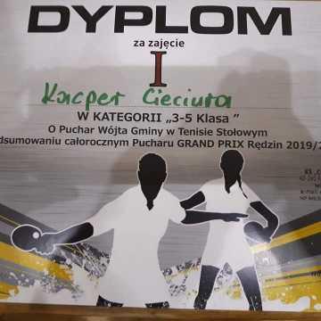 Kacper Cieciura zwycięzcą tenisowego Grad Prix Rędzin w tenisie stołowym