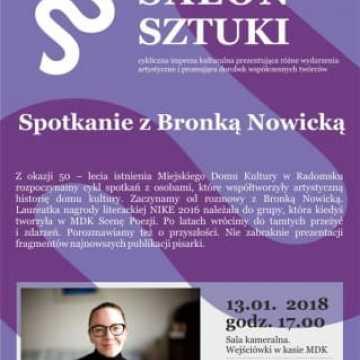 Salon sztuki: spotkanie z Bronką Nowicką