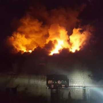 Pożar budynku OSP w Kamieńsku