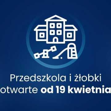 19 kwietnia otwarte żłobki i przedszkola. Pozostałe obostrzenia przedłużono do 25 kwietnia