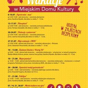 Wakacje z Miejskim Domem Kultury w Radomsku