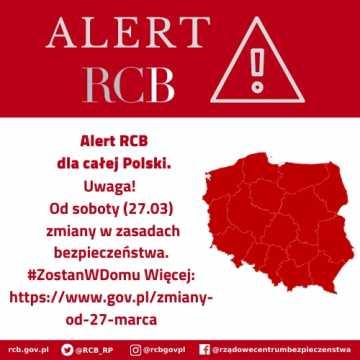 Alert RCB o nowych zasadach bezpieczeństwa