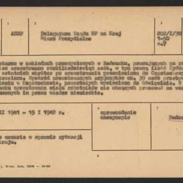 Katalog egzekucji i strat wojennych z lat 1939-1945 w Radomsku i okolicy