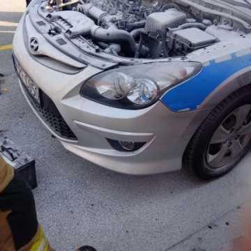 Na A1 palił się radiowóz