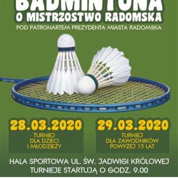 Zagrają w badmintona o mistrzostwo Radomska