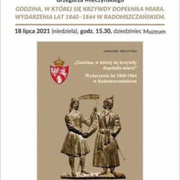 Promocja książki Grzegorza Mieczyńskiego w muzeum w Radomsku