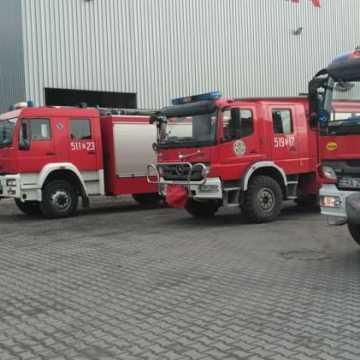 Pożar rozdzielni w zakładzie na strefie