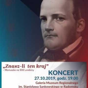 """Zaproszenie na koncert """"Znasz - Li Ten Kraj"""" - Moniuszko na 200. urodziny"""