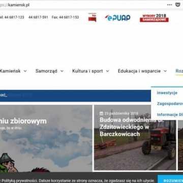 Urząd z Kamieńska ma nową stronę