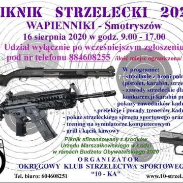 """OKSS """"10-tka""""  zaprasza na piknik strzelecki w Wapiennikach"""