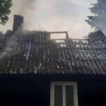 Pożar pustostanu w Załawiu