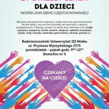 Studenci UTW zbierają dary dla hospicjum