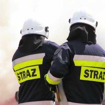 Pożar domu w gminie Przedbórz. Nieprzytomny mężczyzna trafił do szpitala w Siemianowicach Śląskich