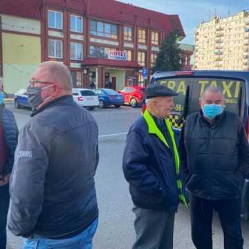 [WIDEO] Taksówkarze protestowali. Również w Radomsku