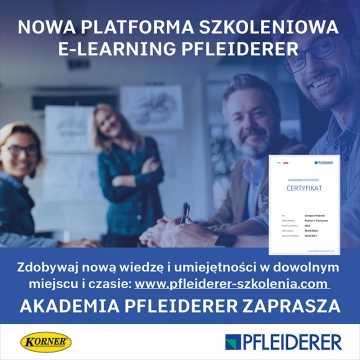 Firmy Korner oraz Pfleiderer uruchomiły platformę e-learningową