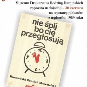 Wystawa plakatów z wyborów z 1989 roku