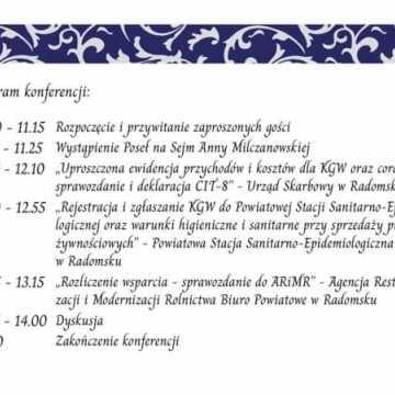 Konferencja Koła Gospodyń Wiejskich w Wielgomłynach