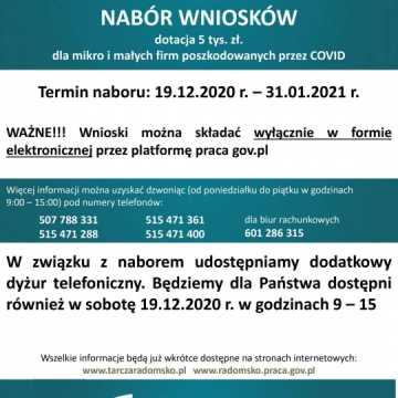 PUP w Radomsku prowadzi nabór wniosków na pokrycie bieżącej działalności