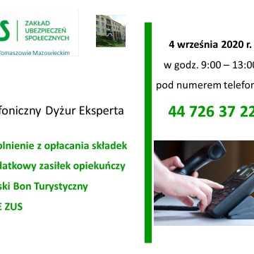 Dyżur telefoniczny ekspertów ZUS