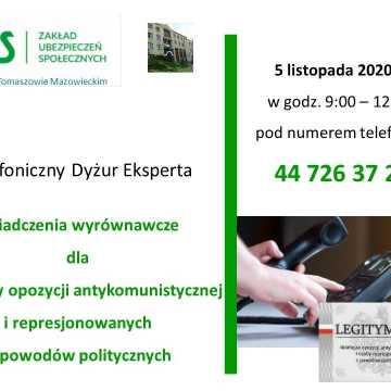 Dodatek dla działaczy opozycji antykomunistycznej. Telefoniczny dyżur eksperta ZUS