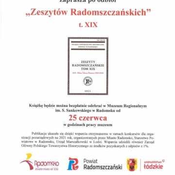 Wkrótce nowe Zeszyty Radomszczańskie