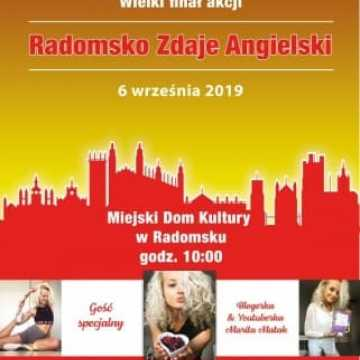 """Zaproszenie na finał akcji """"Radomsko Zdaje Angielski"""""""