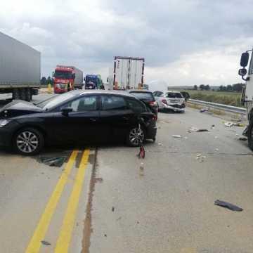 Wypadek na DK 1. Zderzenie 5 aut